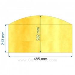 verre réfractaire Vitrocéramique 485x213x282 arrondi