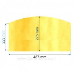 verre réfractaire Vitrocéramique 487x223x275 arrondi