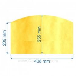verre réfractaire Vitrocéramique 408x205x255 arrondi