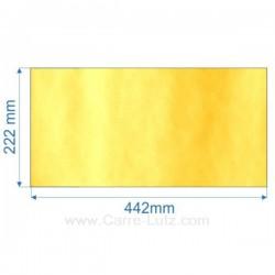 Vitre de poele en Vitrocéramique442x222 mm , reference carre-lutz 00110
