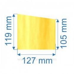 Vitre de poele en Vitrocéramique 127x105 /119 mm Deville 7864 7867 , reference carre-lutz 00127X105