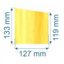 Vitre de poele en Vitrocéramique 127x119 /133 mm Deville 7864 7867 , reference carre-lutz 00127X120