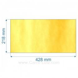 Vitre de poele en Vitrocéramique 428x218 mm Godin 3741 , reference 00156