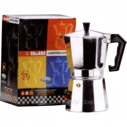 Cafetière italienne expresso en aluminium 6 tasses , reference 150IB002