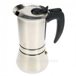 Cafetière italienne expresso en inox 6 tasses Vespress , reference 150TE005