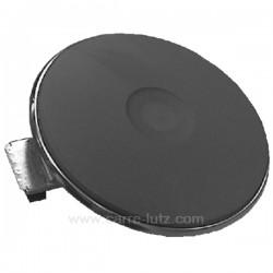 Plaque électrique diamètre 180 mm 2000W rebord 4 mm, reference 204162
