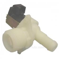 Electrovanne 1 voie 90° diamètre 15 mm de lave linge Laden Whirlpool Igns Radiola Bauknecht 481227128375 , reference 207109
