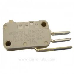 Micro interrupteur universel 3 cosses de sèche linge, Laden Ignis Radiola Bauknecht Whirlpool 481227618248 , reference 226040