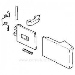 Poignée de hublot blanche Ariston Whirlpool 481949869914 , reference 405111