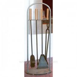 VALET D ATRE GRIS CONTEMPORAIN Articles pour cheminée 500SC015, reference 500SC015