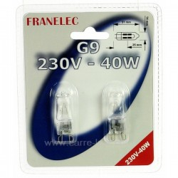 Ampoule halogene G9 40W 230V Éclairage 620106, reference 620106