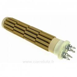 Résistance stéatite à barillets 52 x 250 mm 1200W monophasée et triphasée 6 bornes , reference 703610B