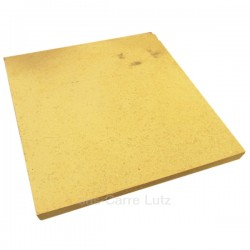 Brique réfractaire 500x500x35 mm, reference carre-lutz 705029