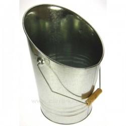 Seau à cendres ou à charbon galvanisé, reference 705853