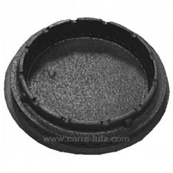 Chapeau de bruleur émaillé marron 65 mm Rosières 93592897 , reference 738109