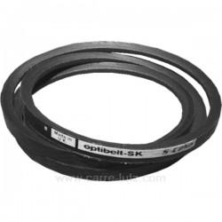 Courroie trapézoïdale 3L491 ou 10X6X1247 ou Z1250 de lave linge Candy Whirlpool 481135817009 , reference 126039
