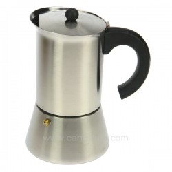 Cafetière italienne expresso en inox 6 tasses Indubasic , reference 150IB006