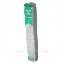 Gaine aluminium de ventilation diamètre 112 mm 1,5 mt, reference 744005