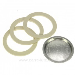 Filtre + 2 joints + soupape pour Moka 3 Tasses , reference 853020