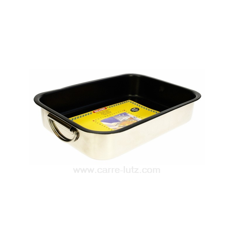 Plat four inox anti adherent 25x19x5 5 cm ref 991ib060 for Plat inox cuisine professionnel