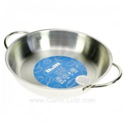 Plat à oeuf ou welch en inox diamètre 18 cm, reference 991IB064