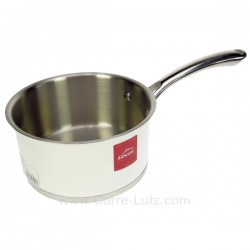 Casserole inox 18/10 finition blanc brillant diamètre 16 cm White Lacor 43216, reference 991LC43216