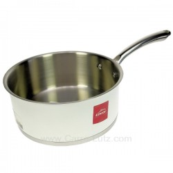 Casserole inox 18/10 finition blanc brillant diamètre 20 cm White Lacor 43220, reference 991LC43220