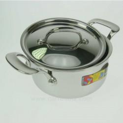 MARMITE A COUVERCLE TRI METAL Batterie de cuisine 991LC53124, reference 991LC53124