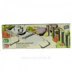 Mandoline multi rapes inox 8 fonctions Lacor La cuisine 991LC60332, reference 991LC60332