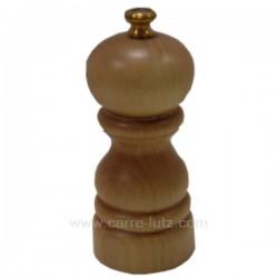 Moulin à sel manuel en bois de hêtre naturel Peugeot Modèle Paris 12 cm , reference 993PG022