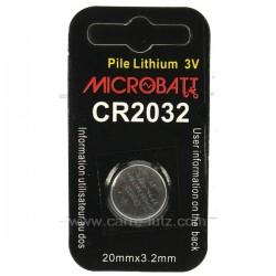 1 PILE 3V CR2032 Accessoires 997016, reference 997016