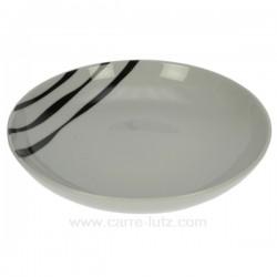 assiette creuse Luna Swing Porcelaine Bruno Evrard CL10010301, reference CL10010301