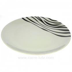assiette bienvenue Luna Swing Porcelaine Bruno Evrard CL10010303, reference CL10010303