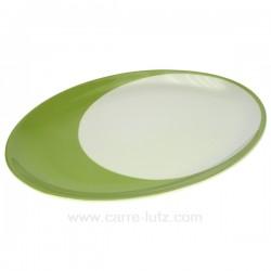 plat ovale Luna Swing vert Porcelaine Bruno Evrard CL10010503, reference CL10010503