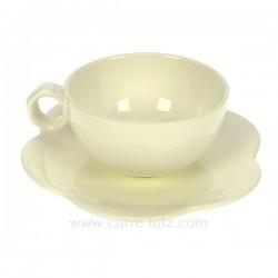 Tasse a cafe Flore Porcelaine Bruno Evrard CL10016005, reference CL10016005