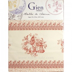 Nappe décor chevrefeuille Gien , reference CL10062007