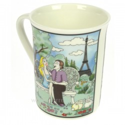 Mug vie Parisienne jardinParis Arts de la table CL10070105, reference CL10070105