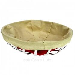 Corbeille à pain ou à fruits ovale en inox, reference CL12000035