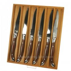 Coffret 6 couteaux virgule La cuisine CL14000019, reference CL14000019
