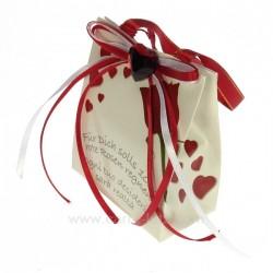 Boite à musique Petit sac décor coeur rouge, reference CL14601015