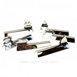 Boite 6 portes couteaux en inox décor feuilles , reference CL15000026
