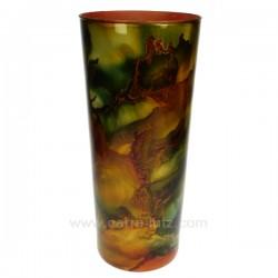Vase orange Zan petit laqué hauteur 40 cm, reference CL18000046