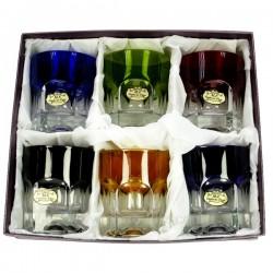 Coffret whisky Nicole 6 couleurs Service de verre CL20010146, reference CL20010146