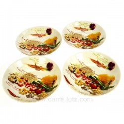 Coffret 4 assiettes a couscous Arts de la table CL21030020, reference CL21030020