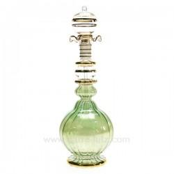 Flacon de parfum Egyptien en verre boule rétro couleur verte, reference CL21040114