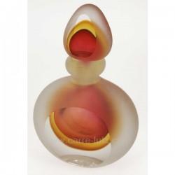 Flacon de parfum en verre soufflé couleur dominante jaune, reference CL21041000