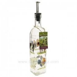 Bouteille huile d'olive décor animaux avec bouchon verseur, reference CL22000060