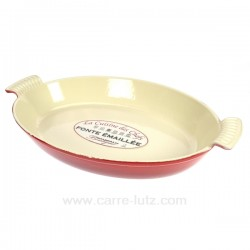 Plat fonte ovale 38 cm La cuisine CL25001013, reference CL25001013