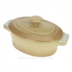 Mini cocotte ovale beige La cuisine CL25001018, reference CL25001018