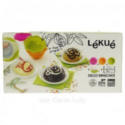 Kit mini cake décor jungle en silicone Lékué, reference CL27000033